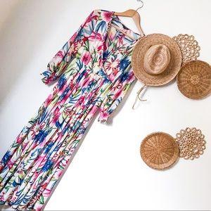Floral maxi dress SZ EUC